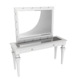 Taj Console With Mirror - White