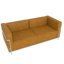 LC3 Grand Modele Two Seat Sofa, Down Cushion