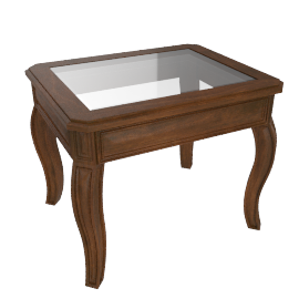 Glory Oceanic New End Table, Brown