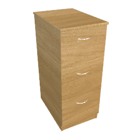 Modus Filing Cabinet, 3 Drawer, Oak