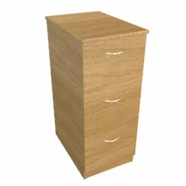 Modus Filing Cabinet, 3 Drawer, Oak