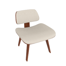Eames Upholstered Molded Plywood Lounge Chair (LCW)