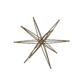 "14"" Six-Axis Star - Bronze"