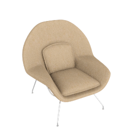 Womb™ Chair - Classic Boucle - Flax
