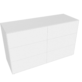 Lauki Low Dresser, White