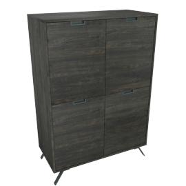 Bronzino 4-Door Cabinet