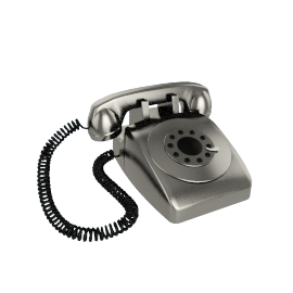 Wild and Wolf Dreyfuss 500 Classic Corded Telephone, Chrome