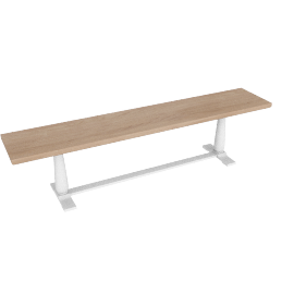 Pinner Bench, Flint White