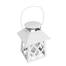 Lattice Lantern, Cream, Small