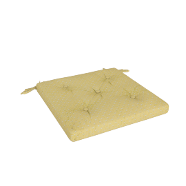 Olivia Chair Pad, Yellow
