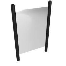 Georg Table Mirror, Ebonized