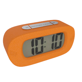 Lucas Table Clock, Orange