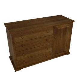 Boori Country 4 Drawer Dresser, English Oak