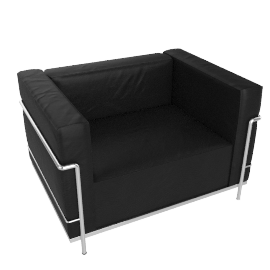 LC3 Grand Modele Armchair, Down Cushions - Leather