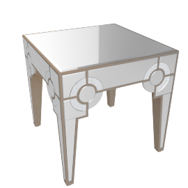 Mystique End Table -Silver/Gold