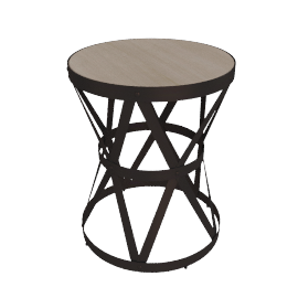 Manchester End Table, Oak/White/Brn