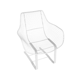 Sculptura Spring Occasional Chair, White