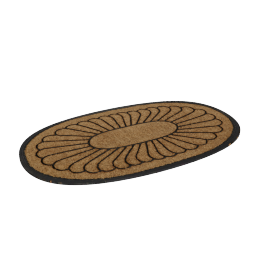 Oval Shape Coir Doormat - 60x100 cms