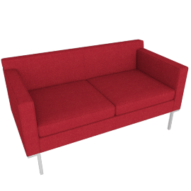 Theatre Two Seater, Lama Tweed, Scarlet