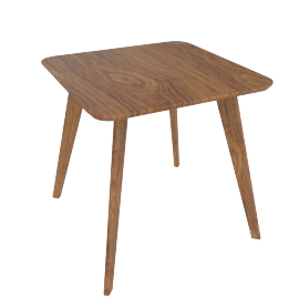 Clover End Table-Brown