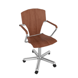 Egoa Task Chair Soft Wheels - Wood