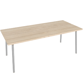 "Run 72"" Table, Ash Top Aluminum Legs"