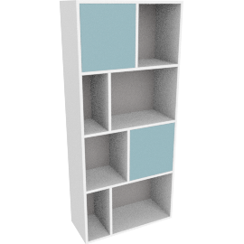 Stretto tall shelving unit, multicolor