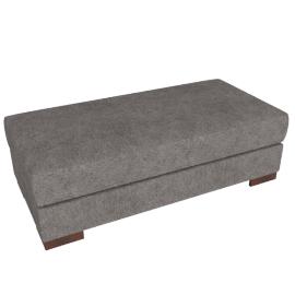 Signature Storage Ottoman, Grey Brown