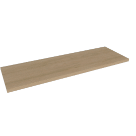 Belfast Rectangular Wall Shelf, Brown