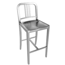 1006 Navy® Counter Stool - Brushed