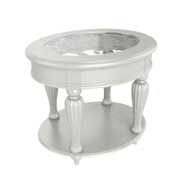 Fiesta End Table, Pearl White