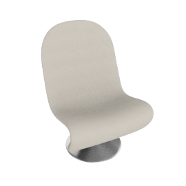 System 1 2 3 Lounge Chair by Verpan in Fabric A - Cream
