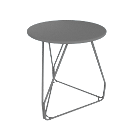 Polygon Wire Table - Small, Graphite