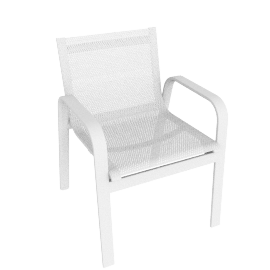 Stack Armchair, White