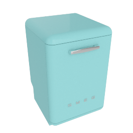 Smeg DF6FABAZ Dishwasher, Pastel Blue