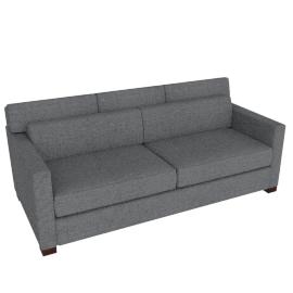 Vesper Queen Sleeper Sofa, Soft Weave Fabric, Pepper