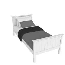 Hickory Bedstead Single, White