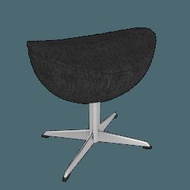 Egg™ Footstool - Fame Fabric - Black