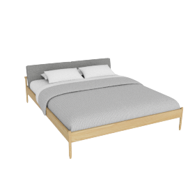 Raleigh Cal KingBed, Ducale Wool Light Grey Oak Frame