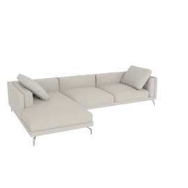 Como Sectional Left Chaise, Kalahari Leather - Latte