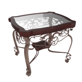 Itasca End Table, Bronze
