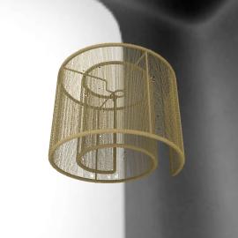 Vienna Swirl Pendant Shade, Gold