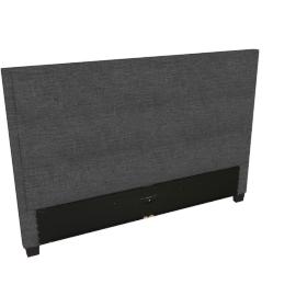 Stellar Ace King Headboard, Dark Grey