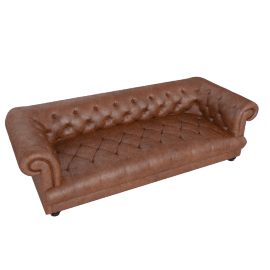 Drummond Grand Leather Sofa, Brown