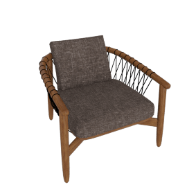 Crosshatch Chair, Walnut Frame, Capri, Trench
