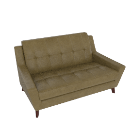 G Plan Vintage The Fifty Three Small Leather Sofa, Olive Green
