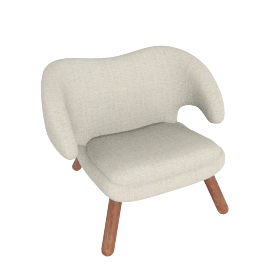 Pelican Chair - Fabric B - Cream