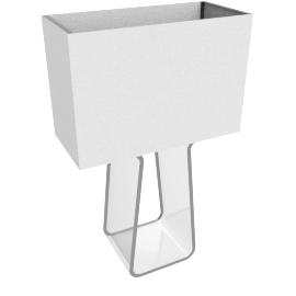 Tube Top Table Lamp Small, White