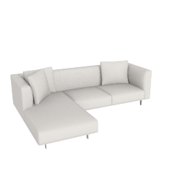 Bilsby Sectional with Left Chaise, Kalahari Leather Latte