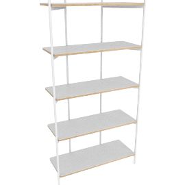 Mino shelving unit, white